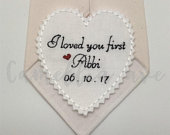 Father of Bride Tie Patch Bride to dad Father Gift Wedding Tie Patch I loved you first Custom tie patch