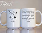 Father of the Bride Gift, Father Daughter Gift, Father in Law Gift, Father of the Groom, Personalized Mug, Fathers Day Gift, Dad Mug MPH466