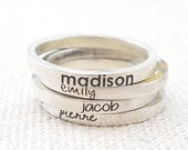 Personalized Rings Mothers Day Jewelry Gift Custom Name Gift Personalized Name Ring Stacking Ring Engraved Ring Silver Ring