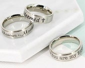Personalized ring Custom Message Ring for her Engraved mother ring Personalized mom ring Stainless Steel name ring Ring for her