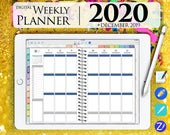 Weekly Planner Digital 2020 GoodNotes Ipad Pro Vertical Tablet Journal PDF with Hyperlinks dated