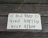 Wedding Sign Just Married Happily Ever After Wood Sign Rustic Wedding Wedding Car Storybook Wedding Bride and Groom Car Decor