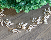 Bridal hair vine Wedding hair vine Bridal headband Bridal hair piece Wedding headband Wedding hair piece Rose Gold hair vine