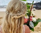 Bridal hair vine Silver Wedding Hair Vine Bridal hair accessories Silver Bridal hair vine Wedding hair piece Wedding hair Accessories