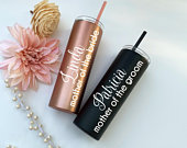 Personalized Mother of the Bride Tumbler or Mother of the Groom Tumbler, Mother of the Bride gift, Mother of the Groom gift, Stainless Steel