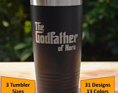 Personalized Godfather or Godmother Polar Camel Tumbler with clear lid, Custom Engraved Godparent Baptism Gift, 13 Different Cup Colors