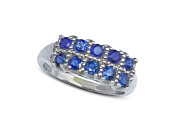 Blue Sapphire Ring/ Engagement Ring/ Dinner Ring made of 14k White Gold with 1.50CT Blue Sapphire