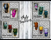 Full Glitter Custom Photo Personalized Memories Tumbler Your Name and Saying with up to 10 photos!