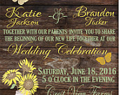 Rustic Wedding Invitation.Sunflowers and Mason Jar. Wedding Suite, RSVP. Save The Date. Fully Customizeable. PDF. Invite. Shabby Chic