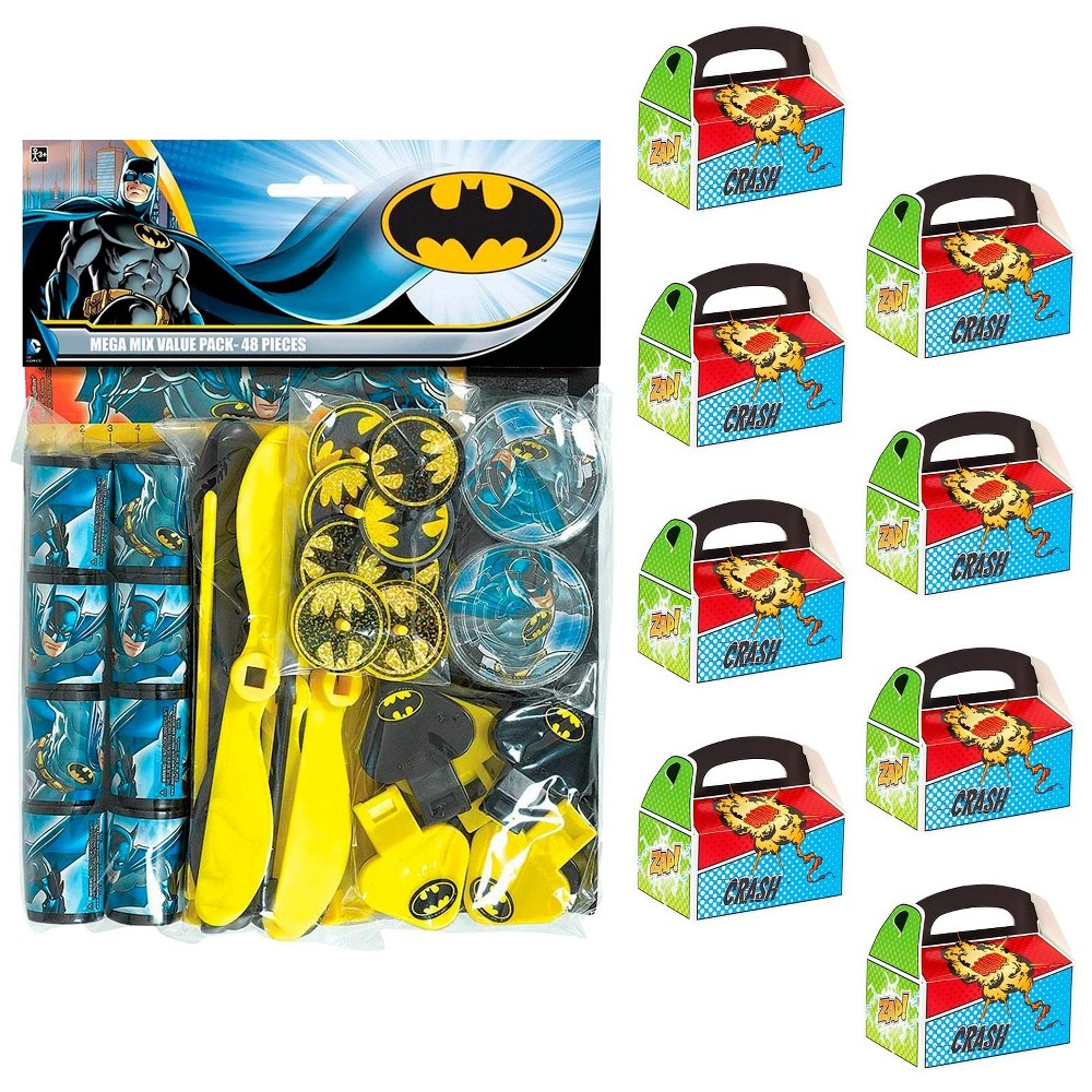 8ct Batman Filled Favor Box Kit, Men's
