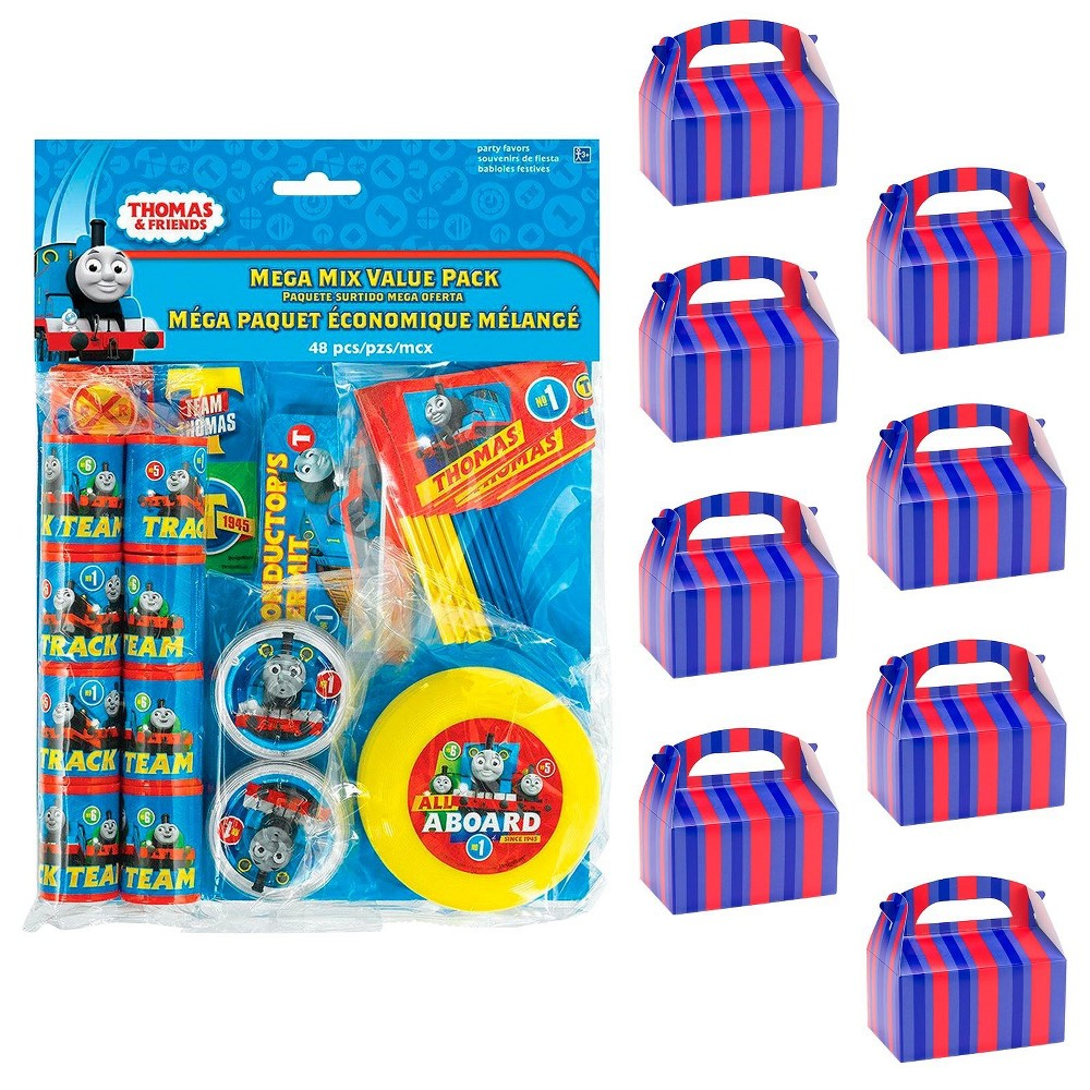8ct Thomas & Friends The Train Filled Favor Box Kit, Men's