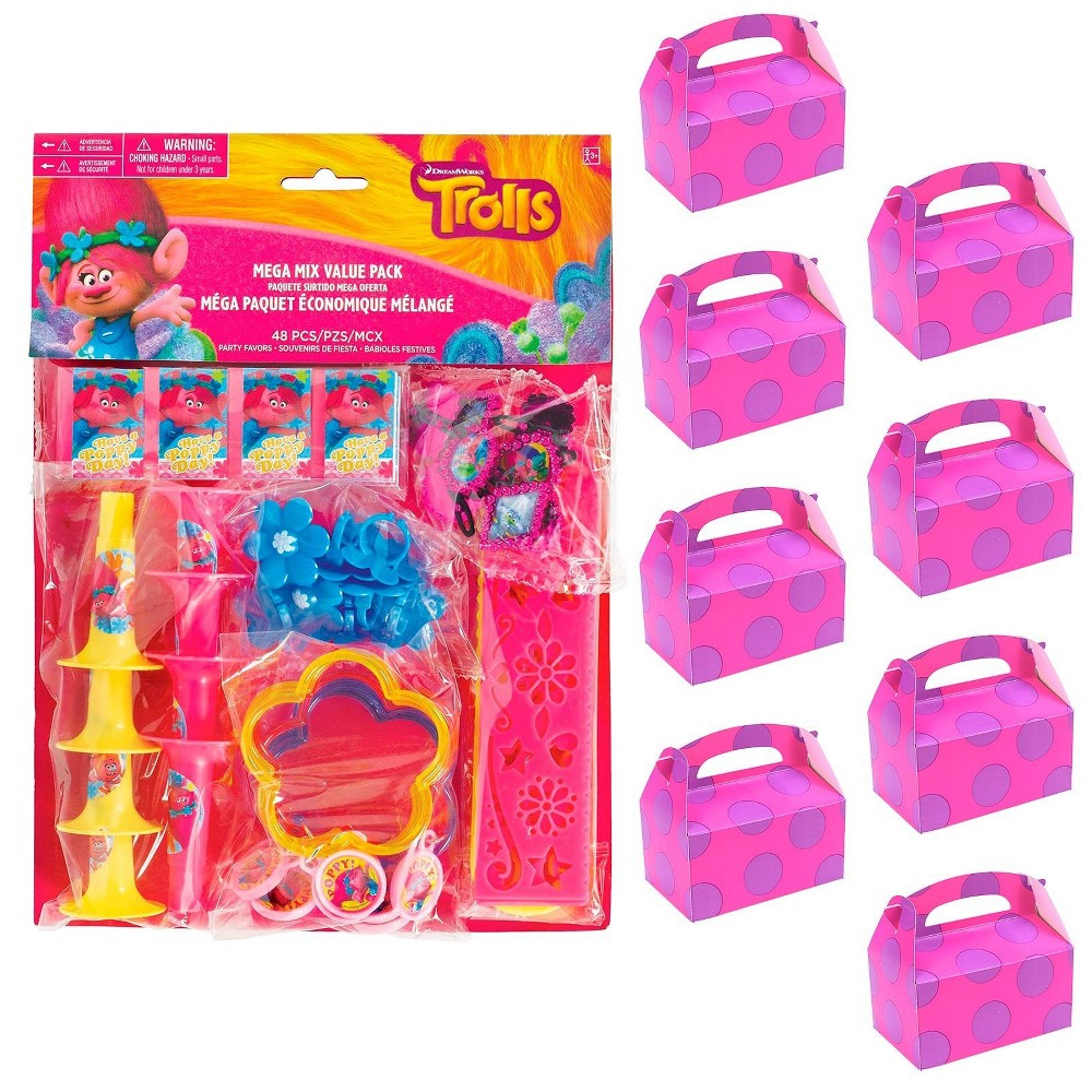 8ct Trolls Filled Favor Box Kit, Women's