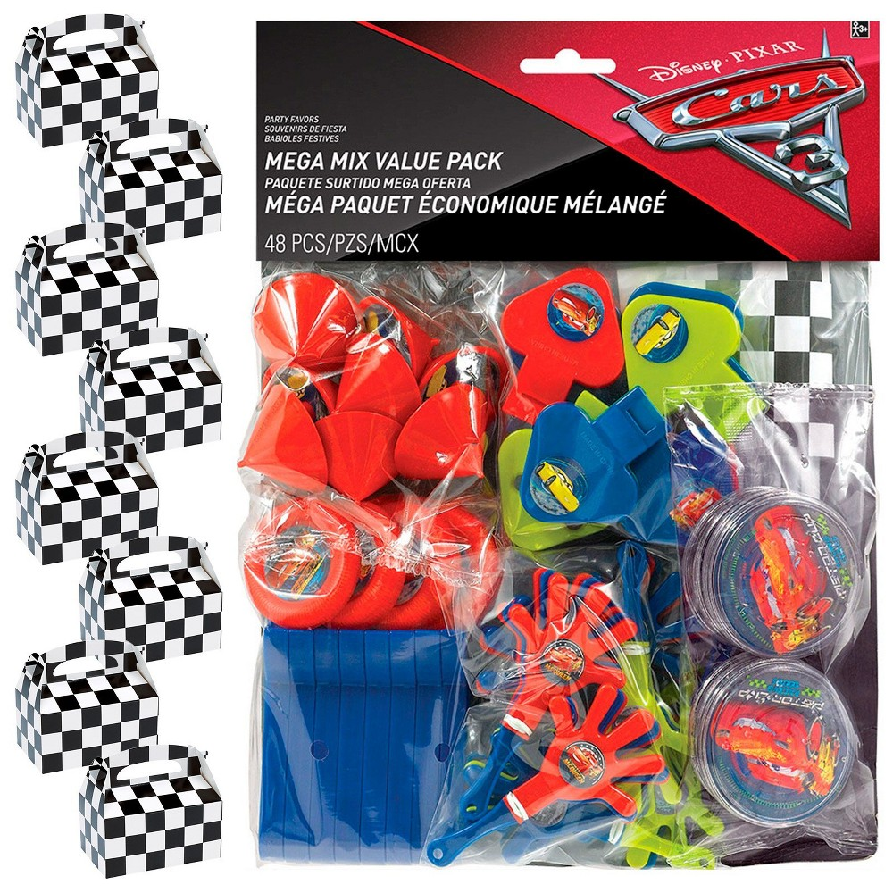 8ct Disney Cars Filled Favor Box Kit, Men's