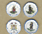 Quimper Faience Plates French Pottery Dishes Brittany Breton Wedding China French Feve Feves Figurines Dollhouse Miniatures UU10