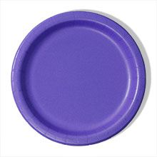 7 Purple Paper Lunch Plates - Quantity: 8 - Household Supplies by Paper Mart