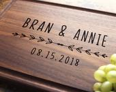 Personalized Engraved Cutting Board Custom Wedding, Anniversary, Engagement, Gift For Couple, Bridal Shower, Housewarming. 944