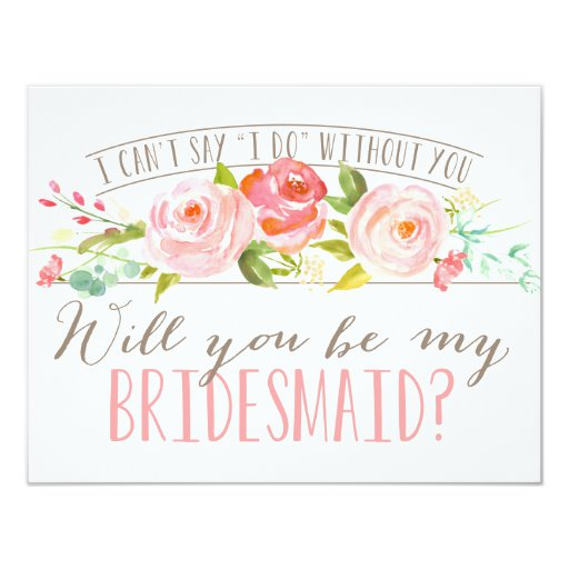 Will You Be My Bridesmaid Bridesmaid Invitation