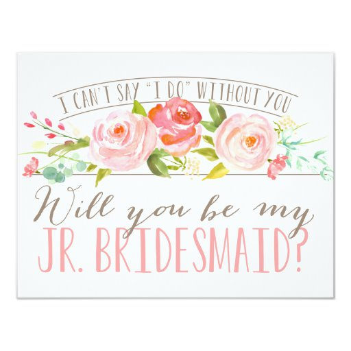 Will You Be My Junior Bridesmaid Bridesmaid Invitation