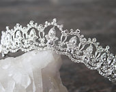 Tiara Wedding Tiara Swarovski Tiara SERENA Silver Tiara Crystal Bridal Tiara Crystal Wedding Crown Silver Tiara Wedding Tiara Gold Crown