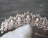Bridal Tiara Swarovski Tiara SERENA Rose Gold Tiara Crystal Bridal Tiara Crystal Wedding Crown Rhinestone Tiara, Wedding Tiara, Tiara Crown