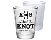 Country Wedding Favors Clear or Frosted Shot Glasses Wedding Favors Personalized Shot Glasses Rustic Wedding Party Gift We Tied The Knot 1A