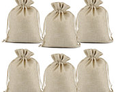 25 50 100 Pcs Wedding Favor Hessian Beige Burlap Jute Linen Gift Bags Drawstring Jewelry Pouch Wedding Party Favor Candy Bags