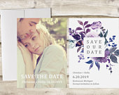 Photograph Save the Date Card, Calendar Save the Date, Save the Date with Photo, Save Our Date with Photograph, Engagement Announcement
