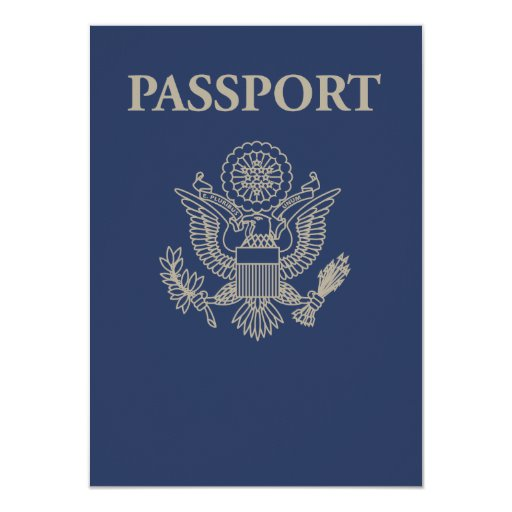 US Passport Invite (Blank)