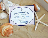 Anchor with Stripes Save the date, Nautical Save the Dates, Coastal Save the Date, Beach Save the Date, Wedding Save the Date, Cape Cod