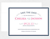 Simple, Elegant Save the Date Card Vintage Scroll Wedding Invitation Typography Vintage Scroll Save the Date