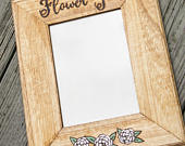 Wedding Picture Frame, Personalized Flower girl frame, Rustic Photo Frame, Custom Photo frame, 5 x 7 frame, wedding gift, flower girl