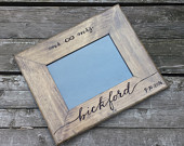 5x7 or 8x10 Rustic wedding photo frame, picture frame, personalize photo frame, custom picture frame, shower engagement gift