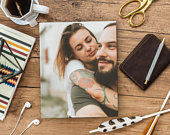 Picture On Wood Valentines Day Gift For Him By BnR, Couples Gifts For Boyfriend Gift Anniversary Gift For Boyfriend Personalized Photo Frame