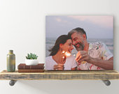 Valentines Day Gift For Him By BnR, Picture On Wood Gift Couples Gifts For Him Anniversary Gift For Husband Gift Personalized Photo Frame