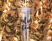 32oz Tumbler w/ Name Trenta Trenta Tumbler XL Tumbler Personalized Mug Coffee Tumbler Lid Straw Wedding Party