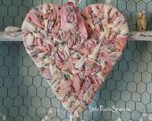 Pink Heart Wreath, Boho Hanging, Wedding Prop, Bride Chair, Flower Girl, Ring Pillow, Nursery Decor, Party Backdrop, Cake Table, Shower Gift
