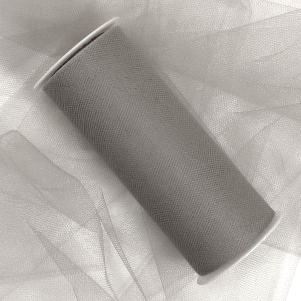 "Fabric Cloth Silver Tulle Rolls 18"" X 25 Yards by Ribbons.com"