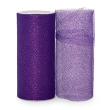 Sparkle Purple Sparkling Tulle Roll - 6 X 25yd - Fabric - Width: 6 by Paper Mart