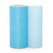 Sparkle Light Blue Sparkling Tulle Roll - 6 X 25yd - Fabric - Width: 6 by Paper Mart