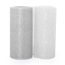 Sparkle Silver Sparkling Tulle Roll - 6 X 25yd - Fabric - Width: 6 by Paper Mart