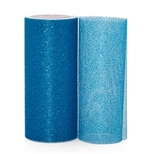 Sparkle Turquoise Sparkling Tulle Roll - 6 X 25yd - Fabric - Width: 6 by Paper Mart