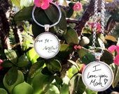 Handwriting charm necklace YOUR Loved ones Handwriting or signature Childs Handwriting Loved Ones Handwriting handwriting charm