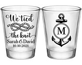 Boat Wedding Shot Glasses Nautical Wedding Favors With Anchor Personalized Shot Glasses For Guests Beach Wedding Favors We Tied The Knot 3A2