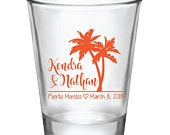 Destination beach wedding favors, beach wedding shot glasses, personalized shot glasses, wedding favors, tropical wedding