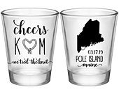 Boat Wedding Shot Glasses Nautical Wedding Favors With Map Personalized Shot Glasses Gifts Beach Wedding Favors We Tied The Knot 2A2 Cheers