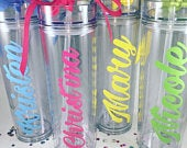 Tumbler with straw, Personalized Tumbler, Wedding Party, Party Favors, Bridesmaid gift, Tumbler, Custom Tumbler, Monogrammed cup, Bridal