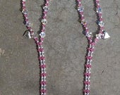 Beaded Barefoot Sandals Pink, White And Silver