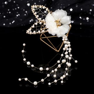 Wedding Flower Headband White - One Size