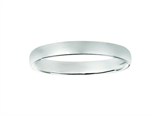 3mm Hollow Lightweight Wedding Band / Ring