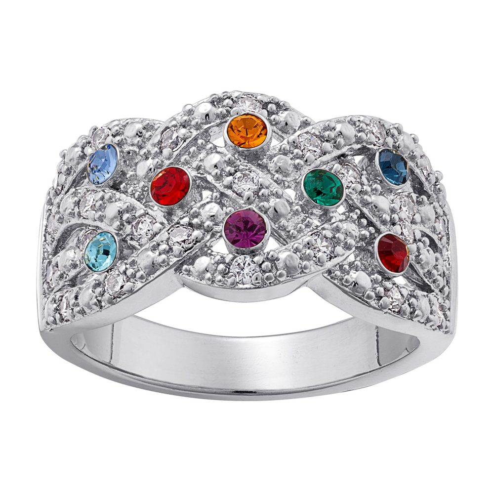 Mother's Braided Birthstone Ring
